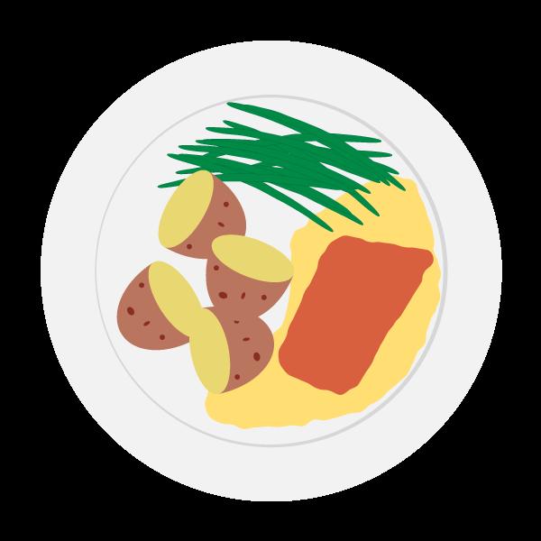 Meal potato and veg