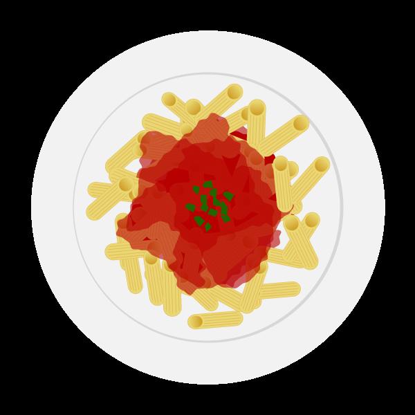 Meal tomato pasta