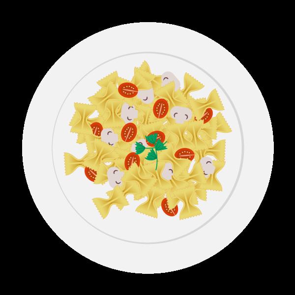 meal pasta veg